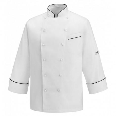 Giacca cuoco Andrea Black Piping